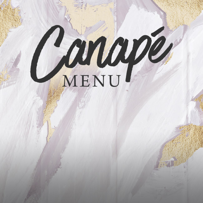 Canapé menu at The Caversham Rose