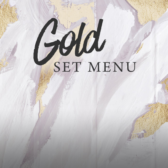 Gold set menu at The Caversham Rose