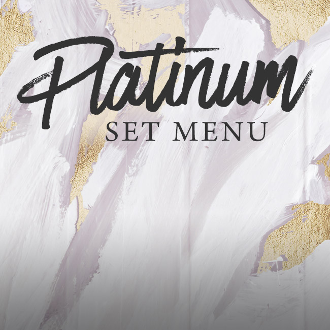Platinum set menu at The Caversham Rose