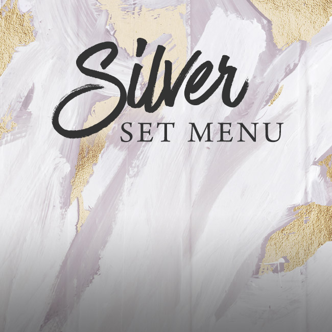 Silver set menu at The Caversham Rose