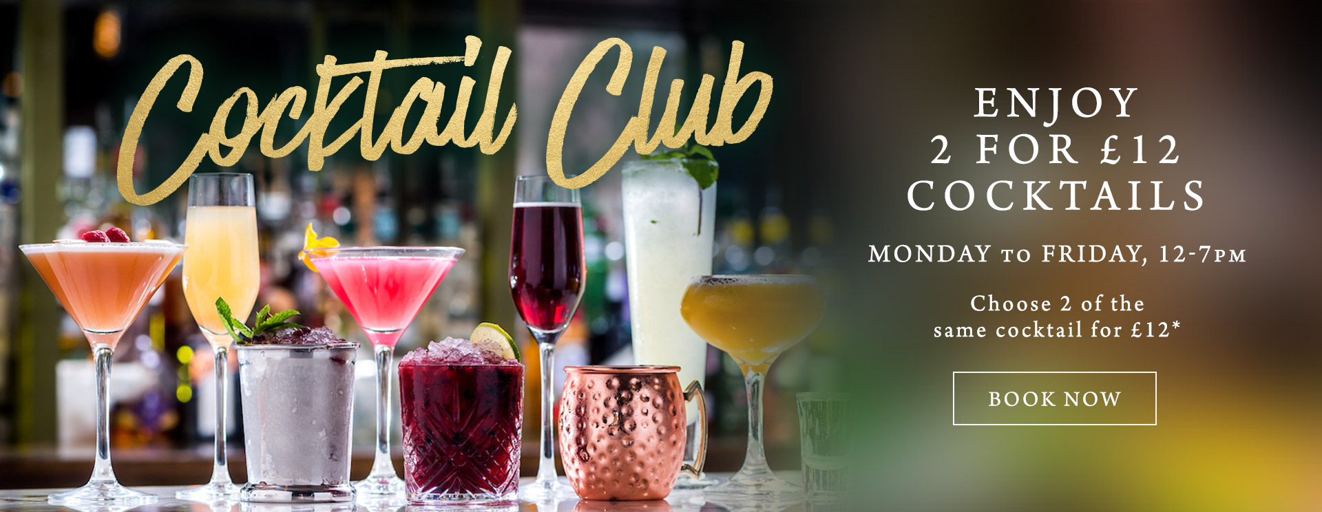 2 for £12 cocktails at The Caversham Rose