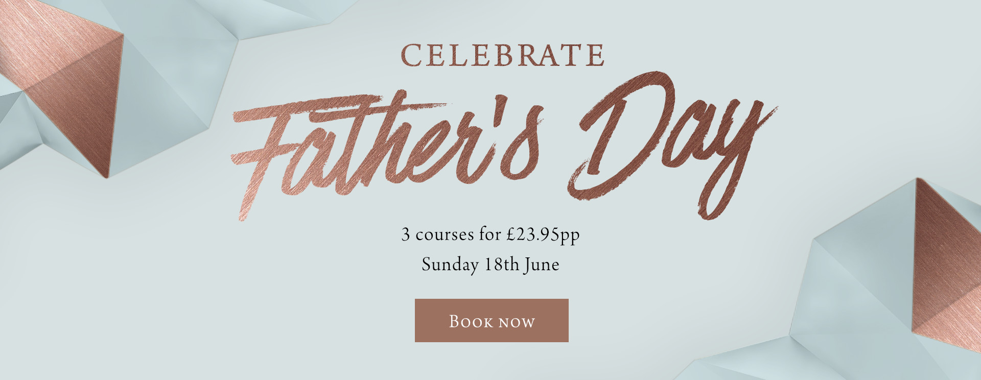 Father's Day at Caversham Rose - Book now